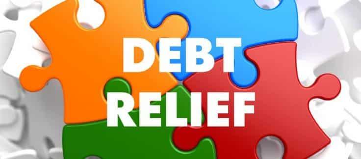 Debt Relief Puzzle representing debt solutions
