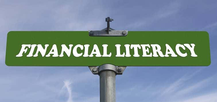 Financial Literacy Sign