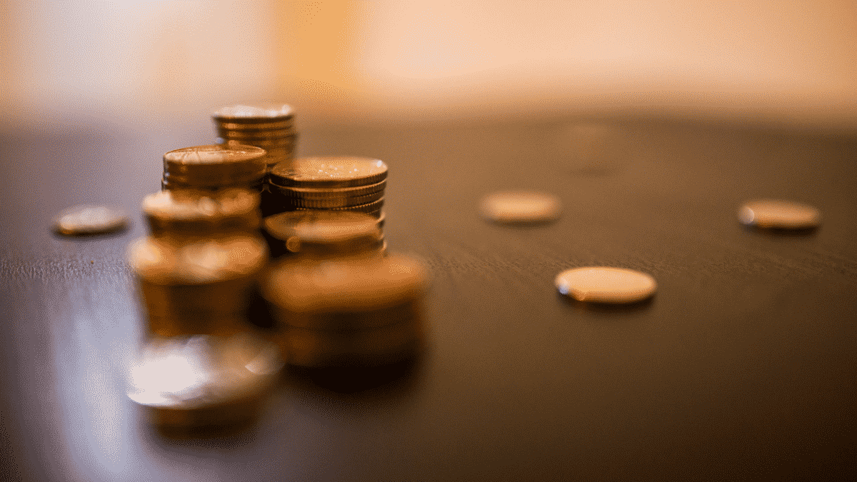 coins depth of field