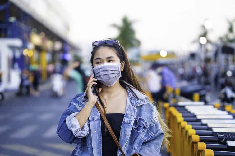 wear face mask in public